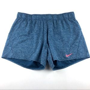 Nike Women's Dri Fit Athletic Shorts Blue Size XL